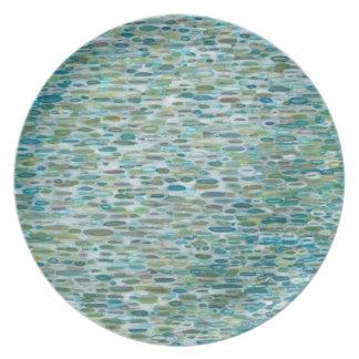 "Coastal Rain 10"" Round Plate by Margaret Juul"