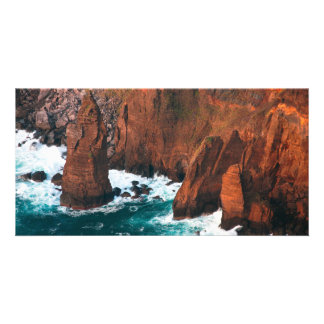 Coastal rock formations card