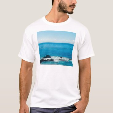 Beach Themed coastal rock horizon T-Shirt