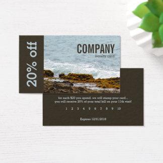 Coastal Rocks and Ocean Surf: Loyalty: Customer Business Card