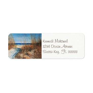 Coastal Sand Dunes Beach Art | Address Labels