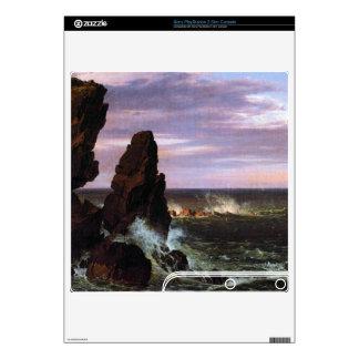 Coastal scene by Frederic Edwin Church Skin For PS3 Slim