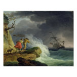 Coastal Scene in a Storm, 1782 Poster