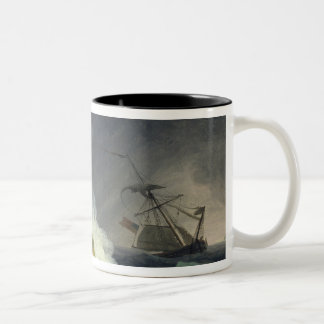 Coastal Scene in a Storm, 1782 Two-Tone Coffee Mug