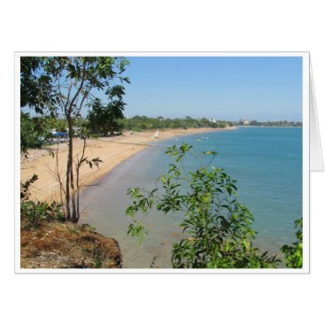 Beach Themed coastal scene oversized card