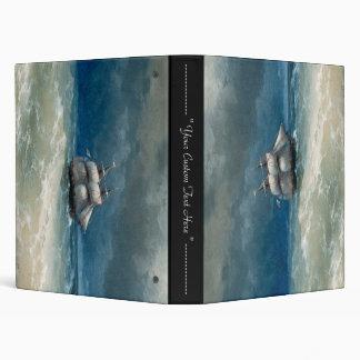 Coastal scene with Stormy Waters  Ivan Aivazovsky 3 Ring Binder