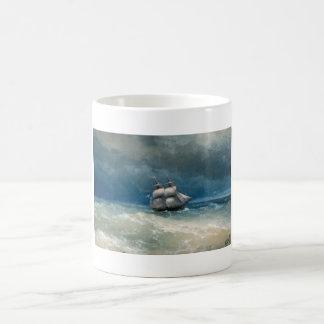 Coastal scene with Stormy Waters  Ivan Aivazovsky Coffee Mug