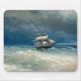 Coastal scene with Stormy Waters  Ivan Aivazovsky Mouse Pad