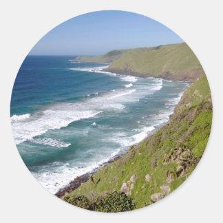 Coastal Scenery Coffee Bay Classic Round Sticker