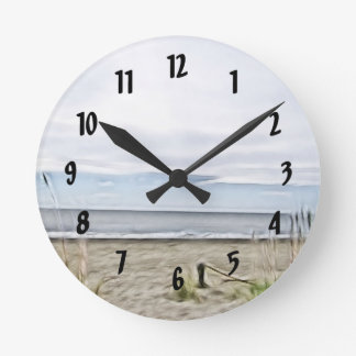 Coastal Sea Dunes of North Carolina Round Clock