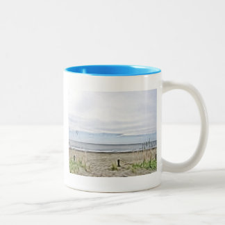 Coastal Sea Dunes of North Carolina Two-Tone Coffee Mug