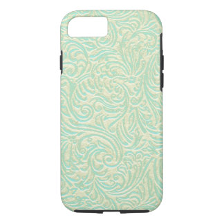 Coastal Sea Green Vintage French Scrollwork iPhone 8/7 Case