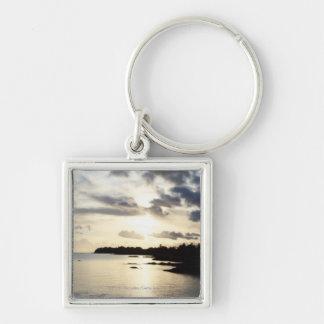 Coastal Silhouette in County Kerry, Ireland Key Chain