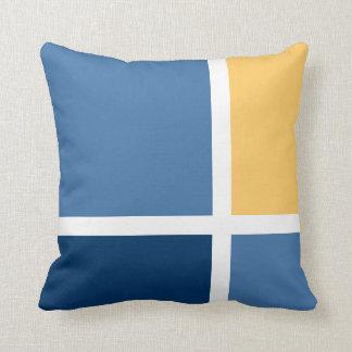 """Coastal"" Square & Rectangle Pattern Pillow 3"