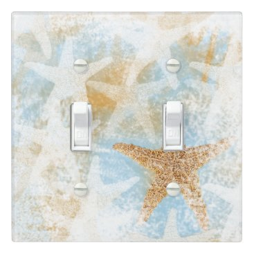JennsEmporium Coastal Starfish Print | Light Switch Cover