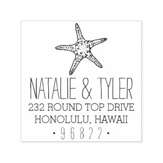 Coastal Starfish Return Address Stamp