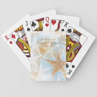 Coastal Starfish Sea Star Playing Cards