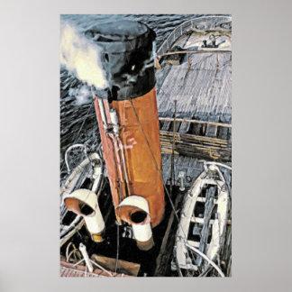 Coastal Steamer Poster