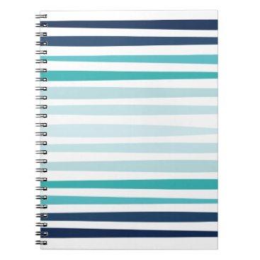 Beach Themed Coastal Stripe Notebook