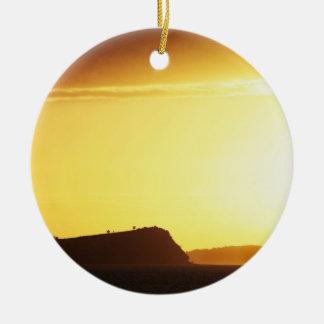 Coastal Sunrise Ceramic Ornament