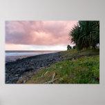 Coastal Sunrise - The Pink Sky Posters