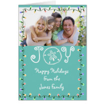 Coastal Theme Photo Holiday Card