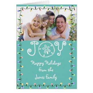 Coastal Theme Photo Holiday Card