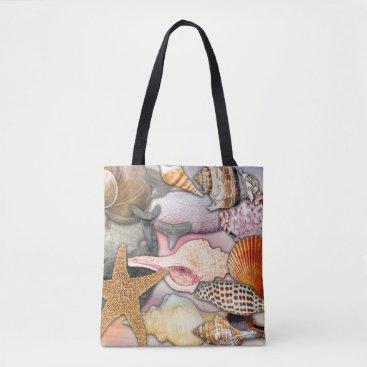 Beach Themed Coastal Themed Shells and Shark Teeth | Tote Bag