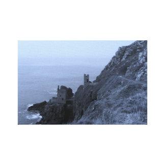 Coastal Tin Mines Cornwall England Poldark Canvas Print