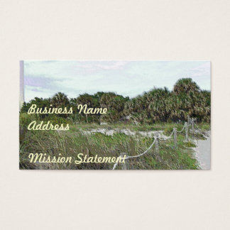 Coastal Trail Photo in Soft Plastic Business Card