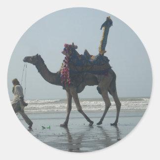 Coastal tribal Camel.JPG Classic Round Sticker