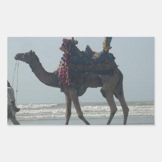 Coastal tribal Camel.JPG Rectangular Sticker