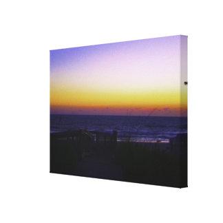 Coastal Tropical Landscape Dawn of a New Day Canvas Print