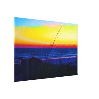 Coastal Tropical Landscape Dawn of a New Day II Canvas Print