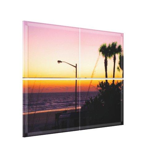 Coastal Tropical Landscape Dawn of a New Day II Canvas Prints