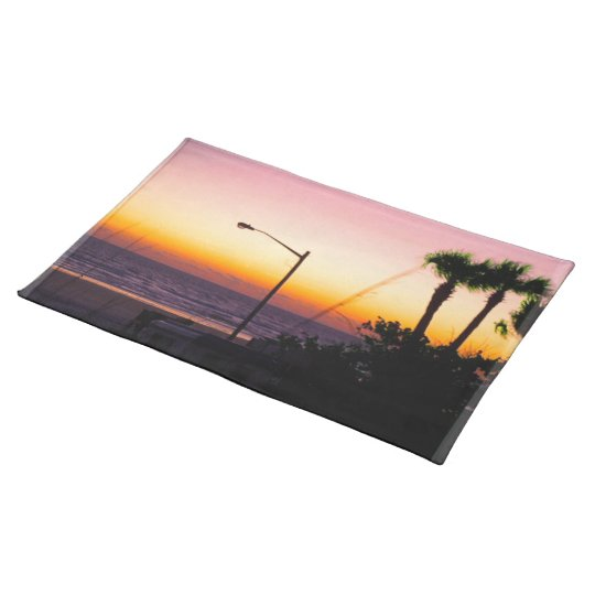 Coastal Tropical Landscape Dawn of a New Day II Cloth Placemat