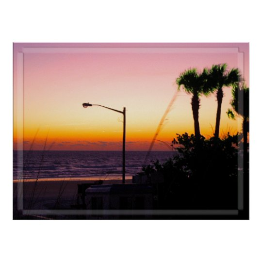 Coastal Tropical Landscape Dawn of a New Day II Poster