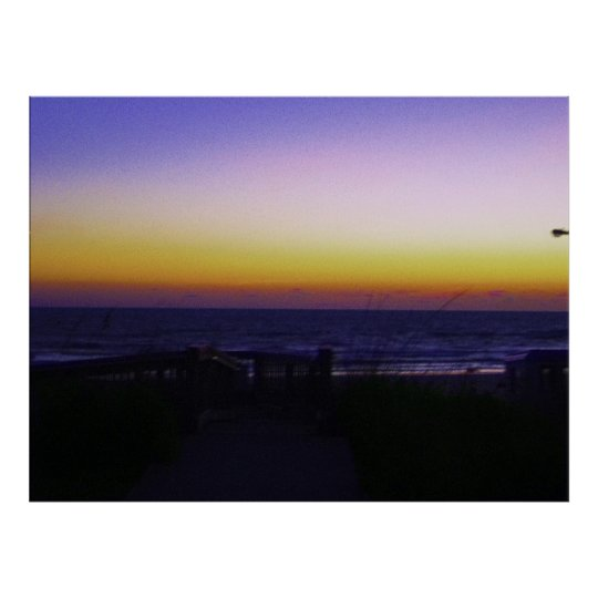 Coastal Tropical Landscape Dawn of a New Day Poster
