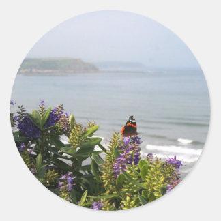 Coastal View Classic Round Sticker