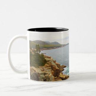 Coastal View of Acadia National Park Two-Tone Coffee Mug