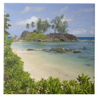 Coastal view on Mahe Island Ceramic Tile