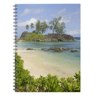 Coastal view on Mahe Island Notebook