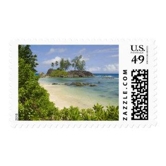 Coastal view on Mahe Island Stamps