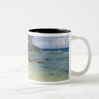 Coastal view on Mahe Island Two-Tone Coffee Mug