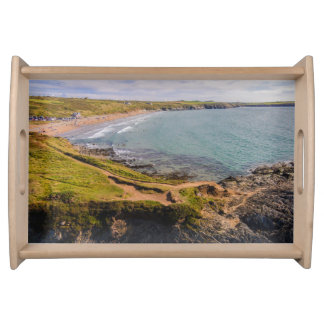 Coastal View Whitesands Bay Pembrokeshire Wales Serving Tray