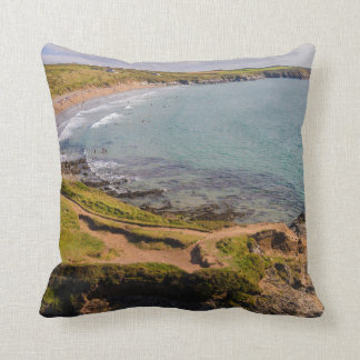 Coastal View Whitesands Bay Pembrokeshire Wales Throw Pillow