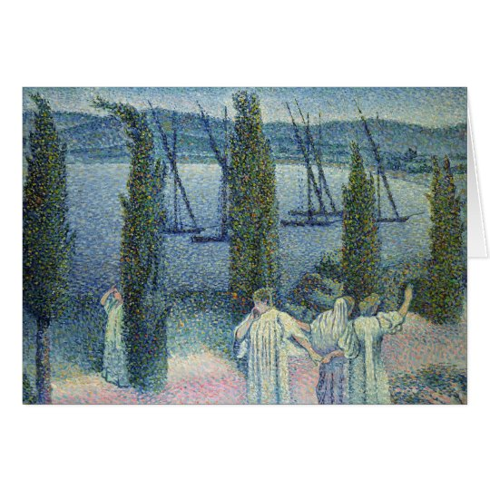 Coastal View with Cypress Trees, 1896 Card