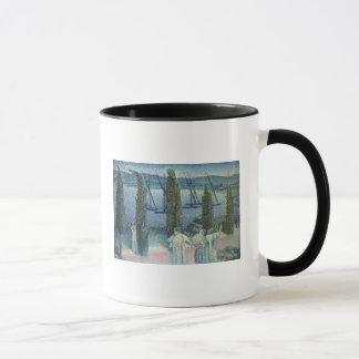 Coastal View with Cypress Trees, 1896 Mug