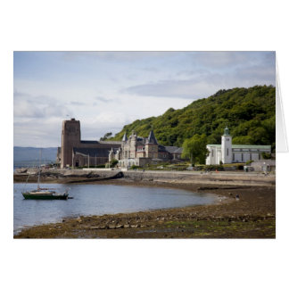 Coastal view with historic buildings, Oban, Card