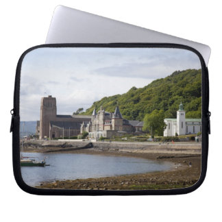 Coastal view with historic buildings, Oban, Computer Sleeve